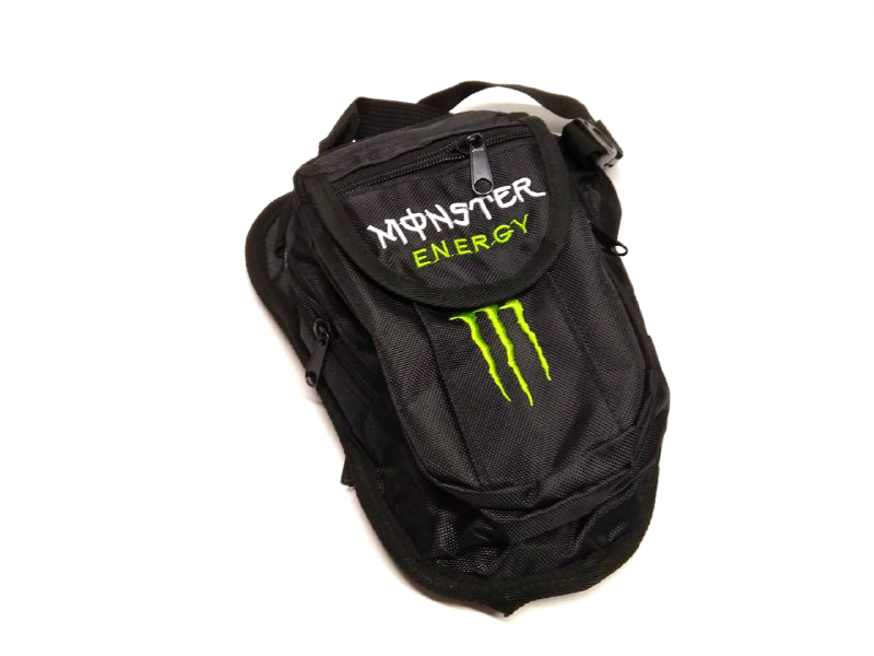 Сумка на бедро Monster Energy, черная