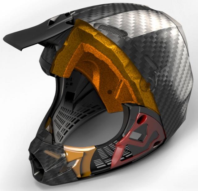 мотошлем в разрезе